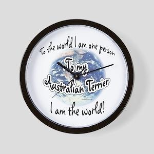 Australian Terrier World2 Wall Clock