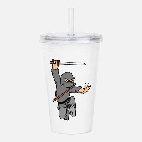 Cute Ninja Acrylic Double-wall Tumbler