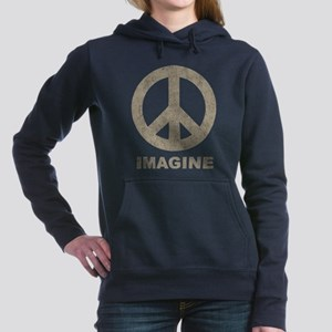 Vintage Imagine Peace Women's Hooded Sweatshirt