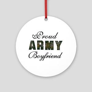 Proud Army Boyfriend Ornament (Round)