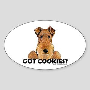 Lakeland Terrier Cookies Oval Sticker