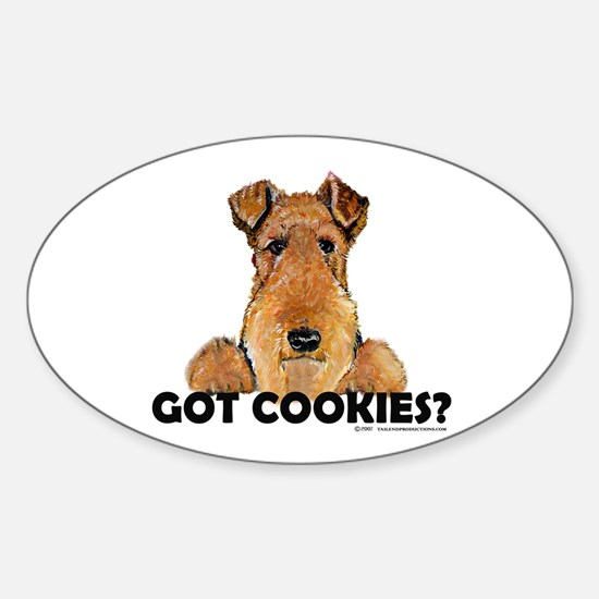 Lakeland Terrier Cookies Oval Decal