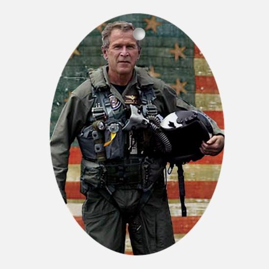 George W. Bush Patriotic Oval Ornament