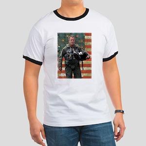 George W. Bush Patriotic Ringer T