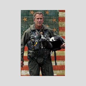 George W. Bush Patriotic Rectangle Magnet