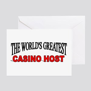 """The World's Greatest Casino Host"" Greeting Cards"