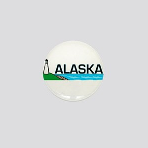 Alaska Lighthouse Mini Button
