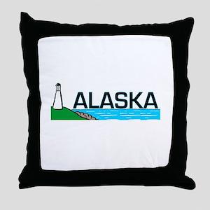 Alaska Lighthouse Throw Pillow