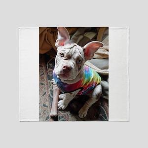Olde English Bulldog Puppy Throw Blanket