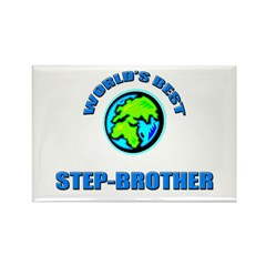 World's Best STEP-BROTHER Rectangle Magnet (10 pac