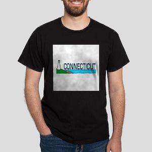 Connecticut Ligthouse Dark T-Shirt