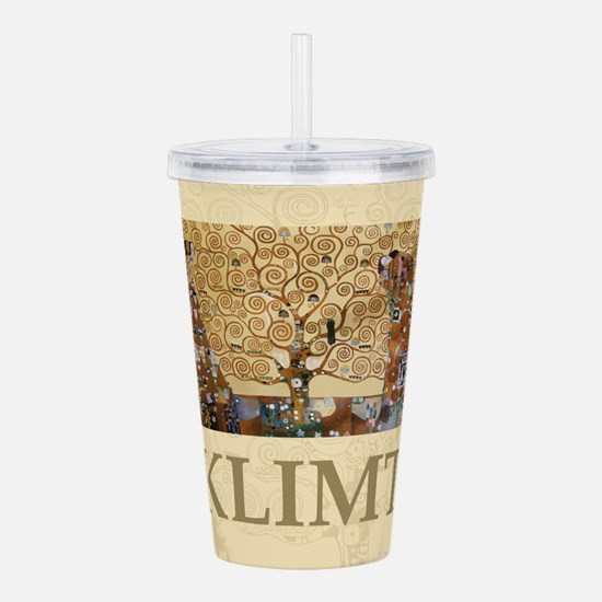 Gustav Klimt Tree Of Life Acrylic Double-wall Tumb
