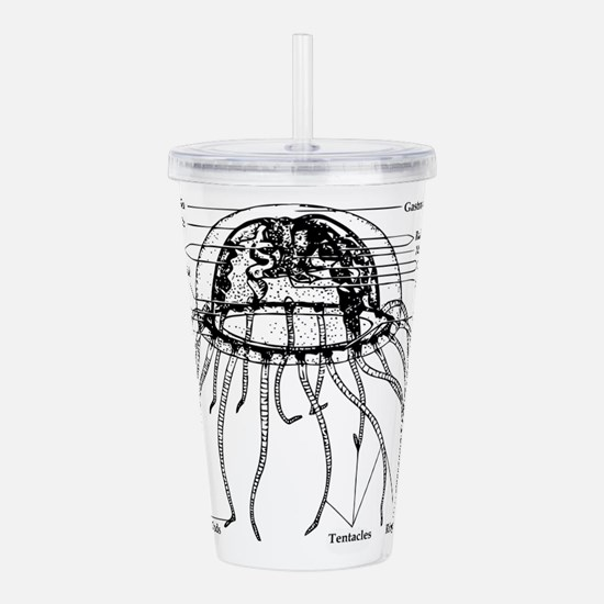 Diagram Of Jellyfish Acrylic Double-wall Tumbler