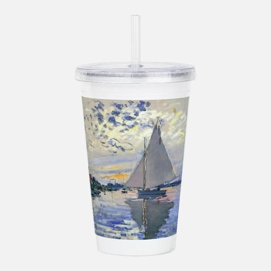 Claude Monet Sailboat Acrylic Double-wall Tumbler