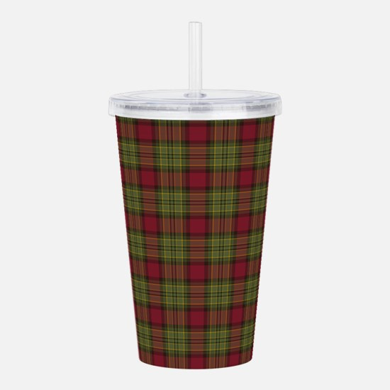 Red Green Tartan Acrylic Double-wall Tumbler