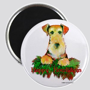 Airedale Holiday Magnet