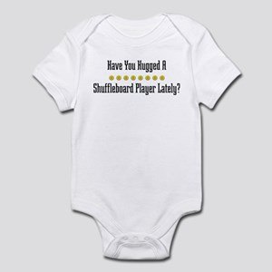 Hugged Shuffleboard Player Infant Bodysuit