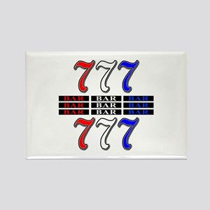 Red, White and Blue Slots Rectangle Magnet