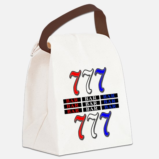 Red, White and Blue Slots Canvas Lunch Bag