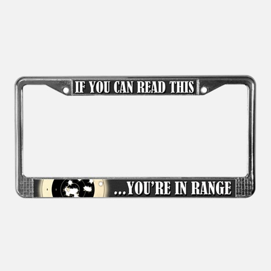 In Range License Plate Frame