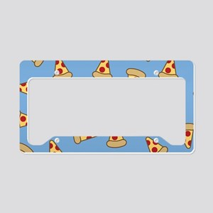 Cute Pizza Pattern License Plate Holder
