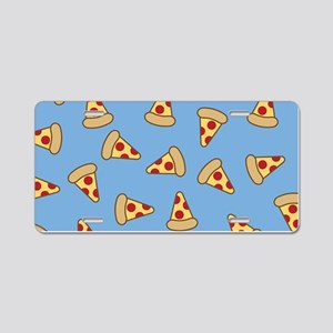 Cute Pizza Pattern Aluminum License Plate