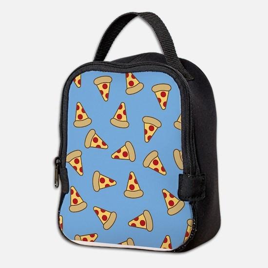 Cute Pizza Pattern Neoprene Lunch Bag