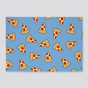 Cute Pizza Pattern 5'x7'Area Rug