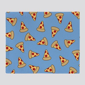 Cute Pizza Pattern Throw Blanket