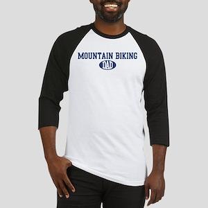 Mountain Biking dad Baseball Jersey