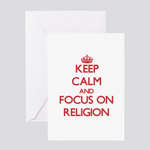 Keep Calm and focus on Religion Greeting Cards