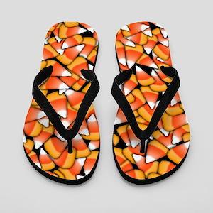 Candy Corn Pattern Flip Flops