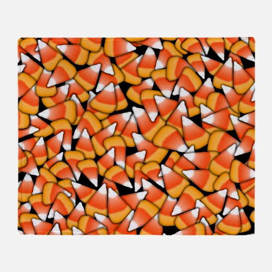 Candy Corn Pattern Throw Blanket