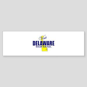 Visit Delaware . . . Small Bu Bumper Sticker