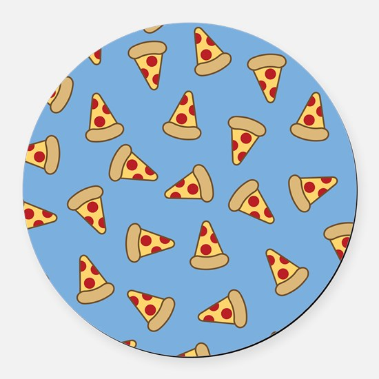 Cute Pizza Pattern Round Car Magnet
