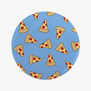 "Cute Pizza Pattern 3.5"" Button"