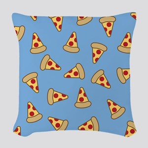 Cute Pizza Pattern Woven Throw Pillow