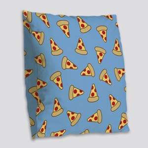 Cute Pizza Pattern Burlap Throw Pillow