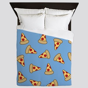 Cute Pizza Pattern Queen Duvet