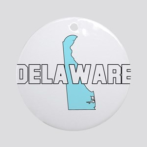 Delaware Map (Dark) Ornament (Round)