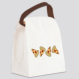 Cute Pizza Slice Canvas Lunch Bag