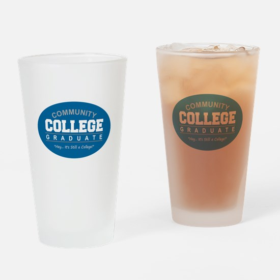 Community College - Blue Drinking Glass