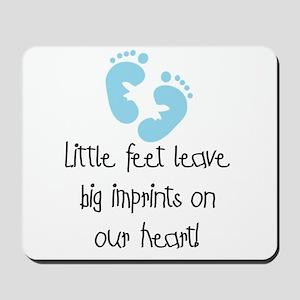 Baby Footprints Blue Mousepad