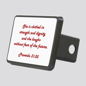 PROVERBS 31:25 Rectangular Hitch Cover