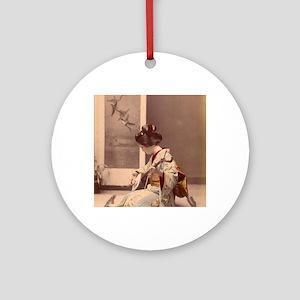 Tokyo - Japanese Vintage Poster - J Round Ornament