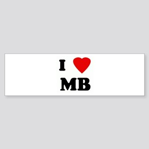 I Love MB Bumper Sticker
