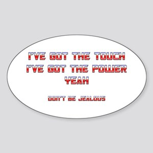 The Touch Oval Sticker