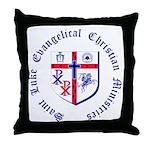 St. Luke's Throw Pillow with Round Text