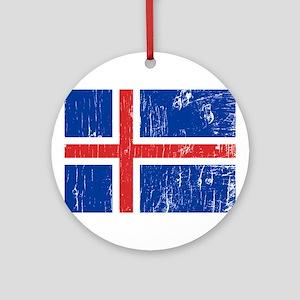 Vintage Iceland Ornament (Round)