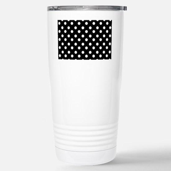 black and white polka d Stainless Steel Travel Mug
